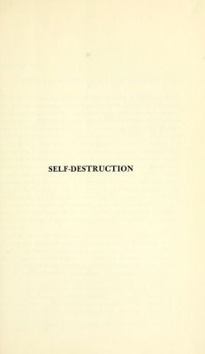 nemfrog:  Title page. Self-destruction. 1958.