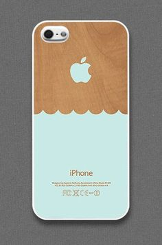 Waves On Wood Iphone Cases
