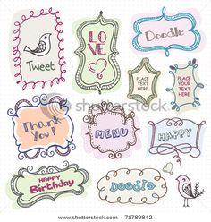 Cute Doodle Frames Stock Vector 71789842 : Shutterstock