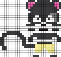 Pantherlilly Fairy Tail Perler Bead Pattern / Bead Sprite
