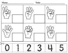 Count and circle numbers to 5   Fiches de travail pour ...