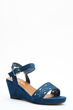 Womens Ladies Navy Mid Wedge Heel Strappy Shoes Sandals Size UK 5,6,7 New  Click On Link To Visit My Ebay Shop http://stores.ebay.co.uk/all-about-feet  Useful Info:  - Standard Size - Standard Fit - By Nio Nio - Navy In Colour - Heel Height: 3 Inches - Platform: 0.5 inches - Buckle Side Fastening - Laser Cut Detail To Front Strap - Faux Suede Upper #shoes #sandals #navysandals #navy #wedge #wedges #strappy #strappysandals #fashion #footwear #ebay #ebayseller #ebayshop #ebaystore #womens…