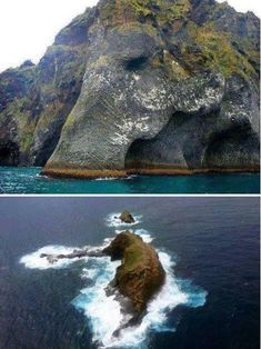 Top photo is Elephant Rock which is located off the coast of Iceland. The other is in Hawaii also named Elephant Rock. Beautiful Places To Travel, Wonderful Places, Beautiful World, Image Nature, Oh The Places You'll Go, Nature Pictures, Amazing Nature, Wonders Of The World, Nature Photography