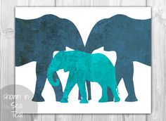 Textured Elephant Stone Marble Art Print - Mother Father and Baby Elephant - Jungle Animal Art - Natural Brown Gray - SKU: Elephant Shower, Elephant Love, Elephant Nursery, Elephant Print, Animal Nursery, Mother Father And Baby, Big Boy Bedrooms, Nursery Themes, Nursery Decor