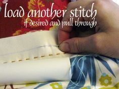Hand quilting with Perle 8 thread. Good instructions for how to do big stitch quilting.