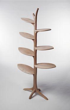 Outstanding Branch Tree Bookshelf Oak Laminated Wood Material ...