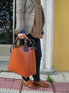 Tote Bag. Handcrafted Genuine Leather Shopper Bag by BagsOnly