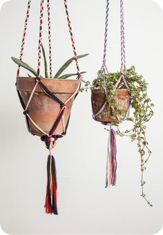Debra Weiss - we have a macrame pot hanger like this made by my mum, and i love it! IB-)
