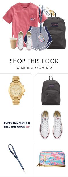 """Hopefully one day I can work at Vineyard Vines"" by aweaver-2 on Polyvore featuring Michael Kors, JanSport, Converse, Lilly Pulitzer and Honora"