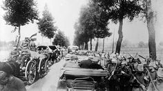 11 August 1914  While the Belgian forces continue to offer resistance, thousands of German troops flood into Belgium. Lines of German troops often kilometres long filled the roads in the east of the country.