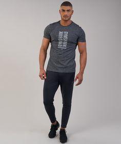 1effdee226ce49 Gymshark Statement T-Shirt - Black Marl. Men ...