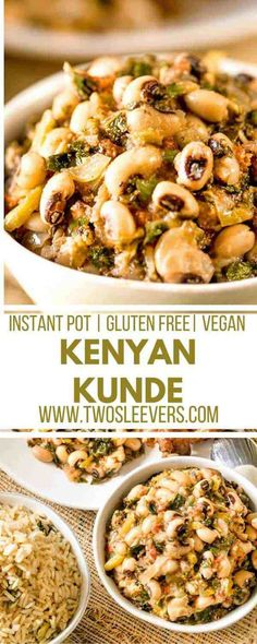 Kenyan Kunde | Black Eyed Peas with Peanuts | Instant Pot Recipes | Gluten Free Recipes | Vegan Recipes | Pressure Cooker Recipes | African Recipes | Two Sleevers | #twosleevers #kenyankunde #blackeyedpeas #instantpot #vegan