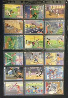 Looney Tunes Upper Deck USA1996 Olympics FULL SET OF 55 CARDS INC STICK EMS EXC Collectible Cards, Upper Deck, Looney Tunes, Full Set, Ems, Olympics, Painting, Painting Art, Paintings