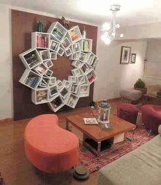 creative bookshelving