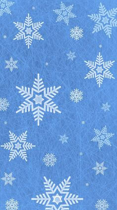Wallpaper Background IPhone Snowflake pattern ice blue