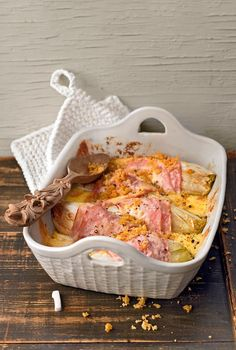 Chicory gratin - Food and Drinks Ideas Food F, Food Porn, Good Food, Yummy Food, Law Carb, Great Recipes, Healthy Recipes, Pork Bacon, Austrian Recipes