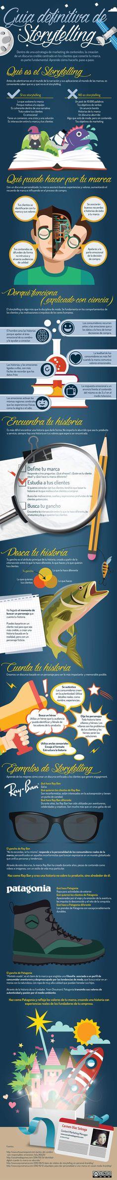 Guía definitiva de Storytelling. Infografía en español. #CommunityManager