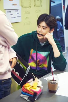 Lee Jong Suk collaboration with designer Lee Seul (October Lee Jong Suk Cute, Lee Jung Suk, Korean Men, Korean Actors, Korean Wave, Korean Celebrities, Korean Dramas, W Two Worlds Wallpaper, Jikook