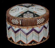 Birch Bark and Porcupine Quill Basket | Artist unknown.............I would so love to have this in my home