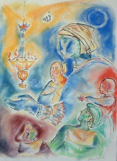 A Dutch Shabbos, 2003 by Shoshannah Brombacher - Drawing