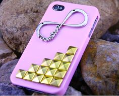 Studded Iphone 5 Case, Studded iPhone 5 Case with Golden Studs,Unique Iphone 5 Cases infinity Case