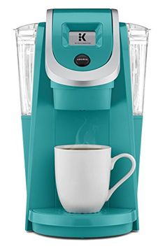 Tiffany Blue Keurig K250 Single Serve, Programmable K-Cup Pod Coffee Maker with strength control