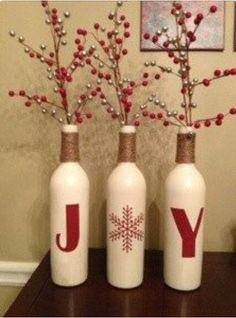 Unas botellas muy navideñas- Christmas idea