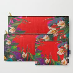 Flower carpet 61 Carry-All Pouch by maryberg