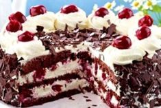 The best Gluten-Free Black Forest Gateau Cake recipe you will ever find. Welcome to RecipesPlus, your premier destination for delicious and dreamy food inspiration. Gluten Free Cakes, Gluten Free Desserts, Gateau Cake, Dessert Sans Gluten, Cake Recipes, Dessert Recipes, Black Forest Cake, Cherry Cake, Chocolate Shavings