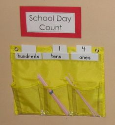 Place value practice: school day count routine Education College, Elementary Education, School Countdown, Place Value Activities, Calendar Time, Calendar Ideas, Routine, Tens And Ones, Printable Calendar Template
