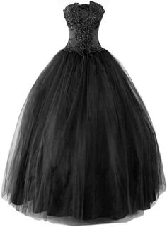 Whoa, I love this- the color, the simple but sparkly embellishing, and that princess-esque skirt. I would use this to use for a wedding dress for a Goth Wedding! Black Evening Dresses, Black Wedding Dresses, Wedding Gowns, Sparkly Dresses, Black Weddings, Purple Wedding, Boho Wedding, Grad Dresses, Formal Dresses