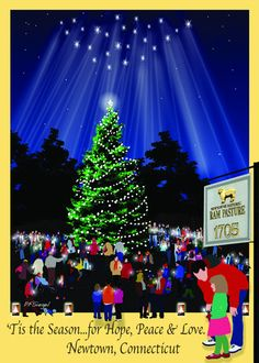 Such a beautiful way to honor Newtown and the loss of 26 lives at Sandy Hook School last December. Holiday cards and ornaments now on sale.