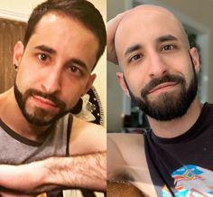 Bald Look, Bald Men, Shaved Head, Shaving, Pilot, Hair Cuts, Mens Sunglasses, Instagram, Fashion