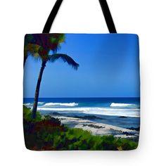 Tote Bags - Clear Blue Ocean Tote Bag by Pamela Walton