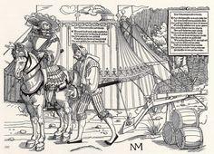Artist: Schoen, Erhard, Title: Heereszug der Landsknechte, Blatt 1, Frontispitz mit Schanzmeister, Date: 1st half of the 16th century