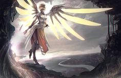 Video Game Overwatch Mercy (Overwatch) Wallpaper