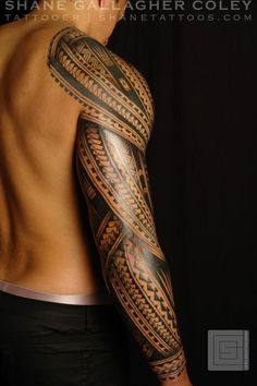polynesian sleeve tattoo - Google Search #samoantattoosmen #maoritattoosmen #polynesiantattoosdesigns