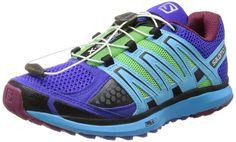 Salomon Women's X Scream W Trail Running Shoe,Spectrum Blue/Black/Fluorescent Blue,9.5 M US