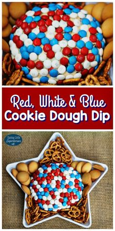 White, & Blue Cookie Dough Dip Use your M&M's® Red, White & Blue Milk Chocolate to make this Cookie Dough Dip.Use your M&M's® Red, White & Blue Milk Chocolate to make this Cookie Dough Dip. Patriotic Desserts, 4th Of July Desserts, Fourth Of July Food, 4th Of July Celebration, 4th Of July Party, Patriotic Party, Patriotic Crafts, Easy July 4th Recipes, Memorial Day Desserts