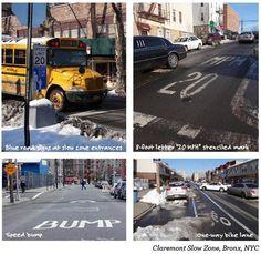 Espaço compartilhado e zonas lentas: comparando o espaço público em Paris e Nova York