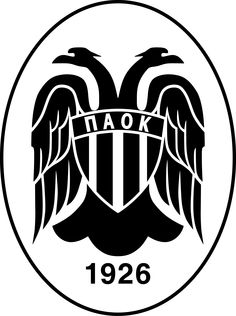 PAOK Thessaloniki Football Team Logos, Soccer Logo, Football Soccer, Soccer World, Ss, Sports Clubs, Weapon, Gardening, Hs Sports