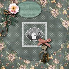 Stunning layout by donakat made with Cherished Bits by #JilbertsBitsOfBytes.  #thestudio #digitalscrapbooking