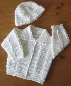 Ravelry: Babies Jacket and Hat Set Patt No.194 pattern by Kay Jones
