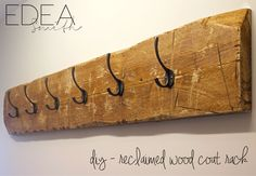 DIY Reclaime Wood Coat Rack