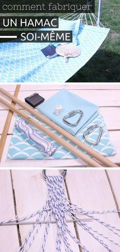Comment Fabriquer un Hamac Soi-Même http://www.homelisty.com/3-diy-jardin-balcon-terrasse-beaux-jours/