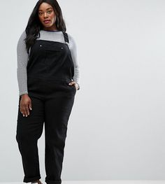 Get this Asos Curve's basic jumpsuit now! Click for more details. Worldwide shipping. ASOS CURVE 90s Style Dungarees - Black: Plus-size dungarees by ASOS CURVE, Stretch denim, Classic pinafore design, Adjustable buckle straps, Functional pockets, Button sides, Straight-cut leg, Regular fit - true to size, Machine wash, 98% Cotton, 2% Elastane, Our model wears a UK 18/EU 46/US 14 and is 175cm/5'9 tall. Say goodbye to awkward-fitting plus-size fashion with our ASOS CURVE collection. Giving…