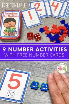 Add these free printable 1-12 number cards, counters, Preschool Activities At Home, Number Activities, Counting Activities, Preschool Math, Learning Games, Kindergarten Classroom, Literacy Activities, Early Learning, Free Printable Numbers