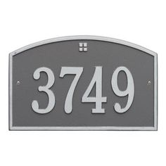 Personalized Whitehall Products; Cape Charles 1- Line Address Plaque in Pewter/Silver