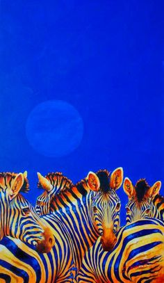 Blue Moon - oil and acrylic by ©Ian van Zyl www.ianvanzyl.com/product_detail.php?id=859