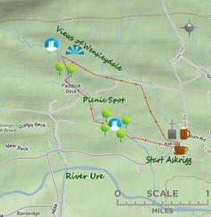 Waterfalls above Askrigg Riverside Walk, Picnic Spot, Yorkshire Dales, Most Favorite, Great View, Waterfalls, Walks, Map, Holidays